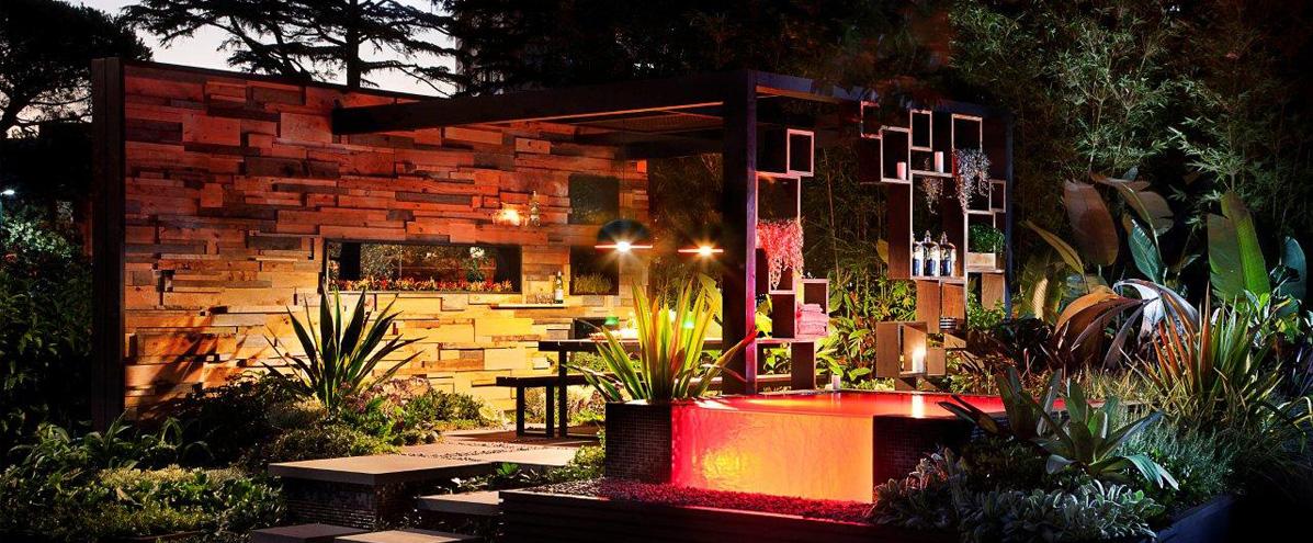 新中式风格 现代简约风格     功能设计: 花园小径设计 户外休闲区